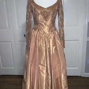 Vintage Escada Coutute Beaded Princess Ballgown 36